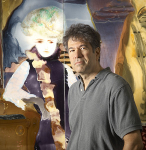 Artist's profile of Dr. Eric Finzi, photographed in Kensington, MD, for Maryland Life Magazine, 11 July 2007.