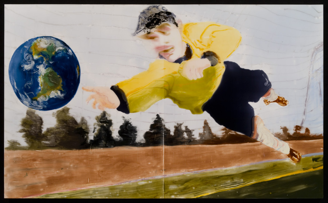 Goal,epoxy-resin,-mixed-media-on-wood,-44-x-72,-2008